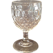 "Flint ""Honeycomb"" Pattern Wine Glass"