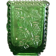 "EAPG ""California"" Pattern Green Toothpick Holder"