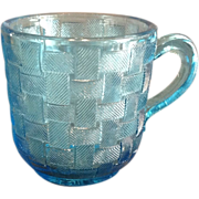 "EAPG ""Basketweave"" Pattern Cup"