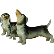 Family of Ceramic Dachshund Figurines