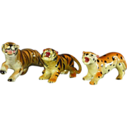 Group of Ceramic Big Cat Figurines