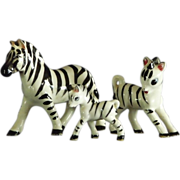 Group of Ceramic Zebra Figurines