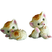 2 Ceramic Kitten Figurines