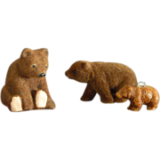 Three Bear Figurines
