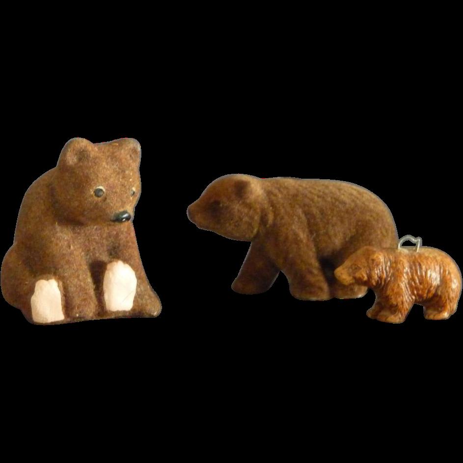 Three Bear Figurines