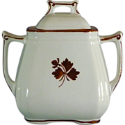 Ironstone Tea Leaf Covered Sugar Bowl