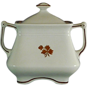 Ironstone Tea Leaf Sugar Bowl with Lid