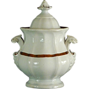 "Ironstone ""Panelled Grape"" Body Covered Sugar Bowl"