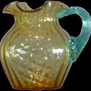 Victorian Glass Pitcher