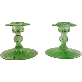 Cambridge Glass Company Candle Sticks