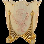 Custard Glass Spooner
