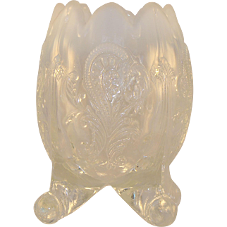 Opalescent Footed Vase