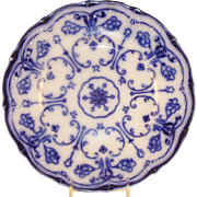 English Flow Blue China Plate