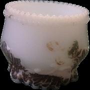 Milk Glass Toothpick Holder