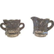Heisey Glass Toy Creamer and Open Sugar