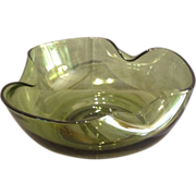 Tiffin Glass Green Bowl