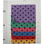 Wonderful 20th C. French Printed Swatch Book with colorways - 40 pages (1002)