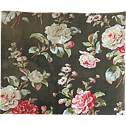 19th Century French Cotton Floral Print (2030)