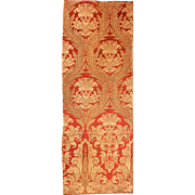 Antique 19th Century French Silk Art Nouveau Woven Damask ( 2041 )