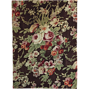 Beautiful 19th C. French Wool Challis Floral Fabric- Napolean III (2061)
