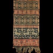 Beautiful 19th Century Cotton Indonesian Ikat Woven Fabric (2076)