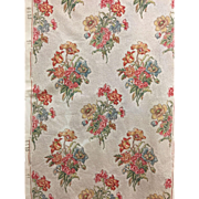 Beautiful Vintage Mid 20th C. French Floral Cotton Fabric (2085)
