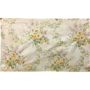 Beautiful 19th Century French Floral Silk Fabric (2104 )