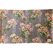 Lovely 20th Century French Floral Cotton Print (2106 )