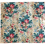 Beautiful Early 19th Century French Floral Cotton Chintz Fabric (2152)