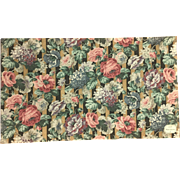 Lovely Late 19th/Early 20th C. French Floral Linen Print Fabric (7842)