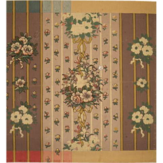 Charming 19th C. French Textile Painting (7853)
