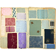 Late 19th C./ Early 20th C. French Woven Swatch book with 152 Designs (801)
