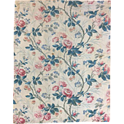 Antique 19th Century French Floral Cotton Fabric (2019)
