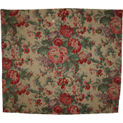 Beautiful Late 19th/Early 20thC. French Floral Cotton Print Fabric (8465)