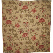 Rare & Beautiful Antique 19th C. French Exotic Floral Cotton Print Fabric (8466)
