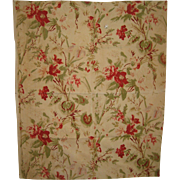 Beautiful Vintage 1930's French Floral Cotton Print Fabric (8578)