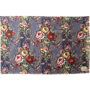 Beautiful Vintage Early 20th C. French Floral Cotton Print Fabric (8750)