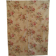 Beautiful Antique 19th C. French Floral Cotton Print Fabric (8860)