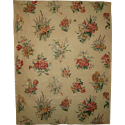 Lovely  1920's-30's English or French Floral Cotton Chintz Fabric (8903)