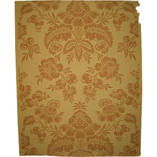 Beautiful Antique 19th C. French Damask Wallpaper (9008)