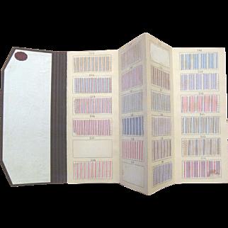 Delightful Antique 19th c. Spanish Dress-shirting Cotton swatch book (903)