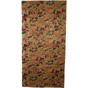 Beautiful Antique 19th C. French Floral Cotton Chintz Print Fabric (9078)