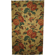 Beautiful Vintage 19th C. French Floral Cotton Chintz Print Fabric (9143)