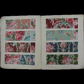Wonderful 1913-1914 Century Antique English Cotton Swatch Book (921)