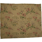 Beautiful Antique 19th C. French Botanical Floral Cotton Print Fabric (9265)