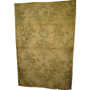 Beautiful Antique 19th C. French Neoclassic Toile Linen Print Fabric (9314)