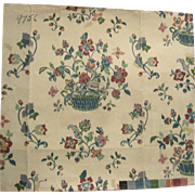 Charming 20th Century French Textile Painting (9367)