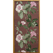 Vintage Beautiful Mid 20th C. American Floral Wallpaper (9019)