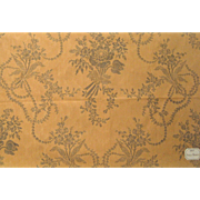Beautiful Antique 19th Century French Floral Print Fabric (9418)