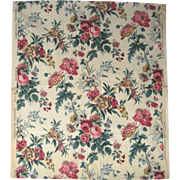 Beautiful 1930's French Floral Cotton Print Fabric (9436)